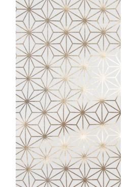 Ύφασμα με Χρυσά Γεωμετρικά Σχέδια - NT-308019