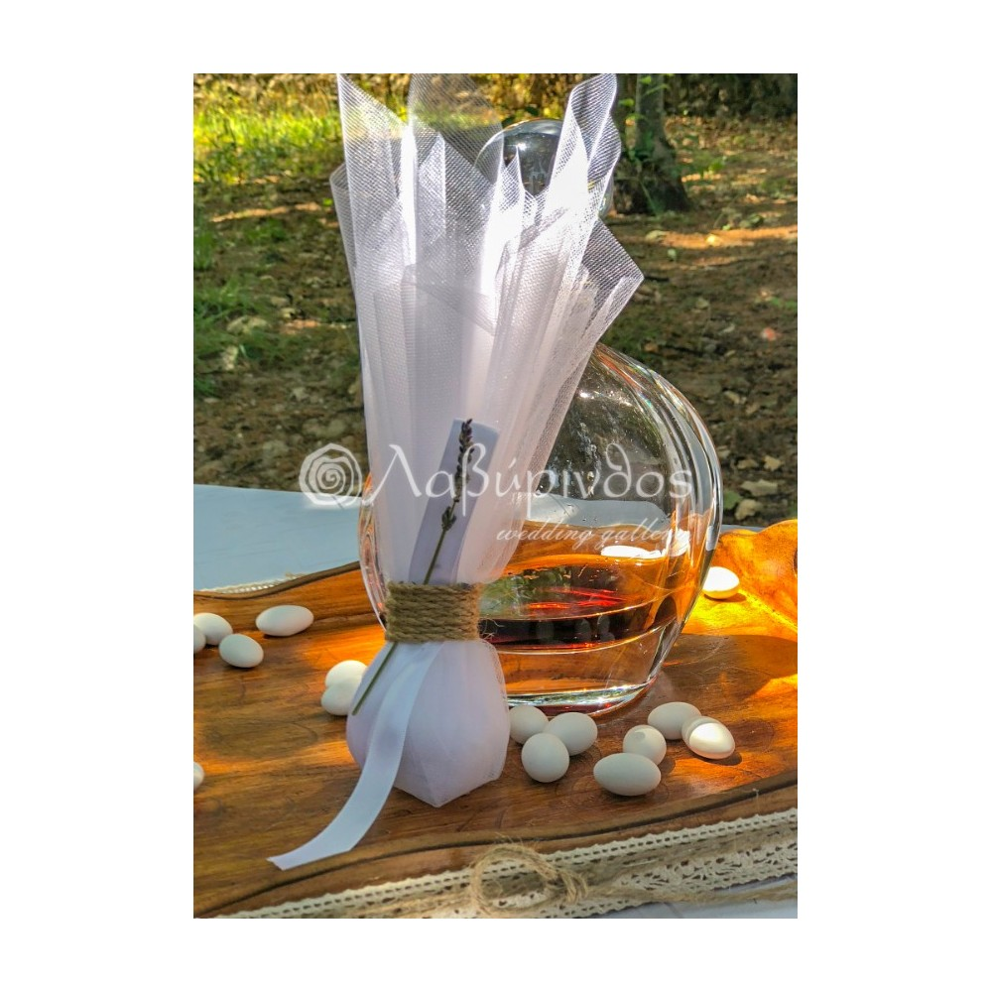 Τούλινη Μπομπονιέρα Γάμου Λεβάντα - LWG-11264