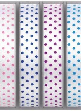 Κορδέλα Σατέν Με Χρωματιστό Πουά 15 mm - PE-14124