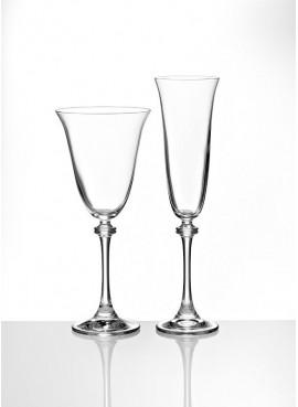 Κρυστάλλινο Ποτήρι Γάμου Κρασιού / Σαμπάνιας - BT-8530