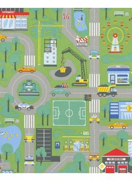 Ύφασμα παιδικός χάρτης πόλης - NT-308053