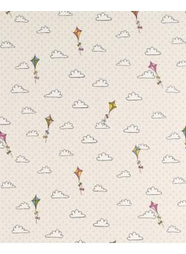 Ύφασμα σύννεφα με χαρταετούς - NT-308638