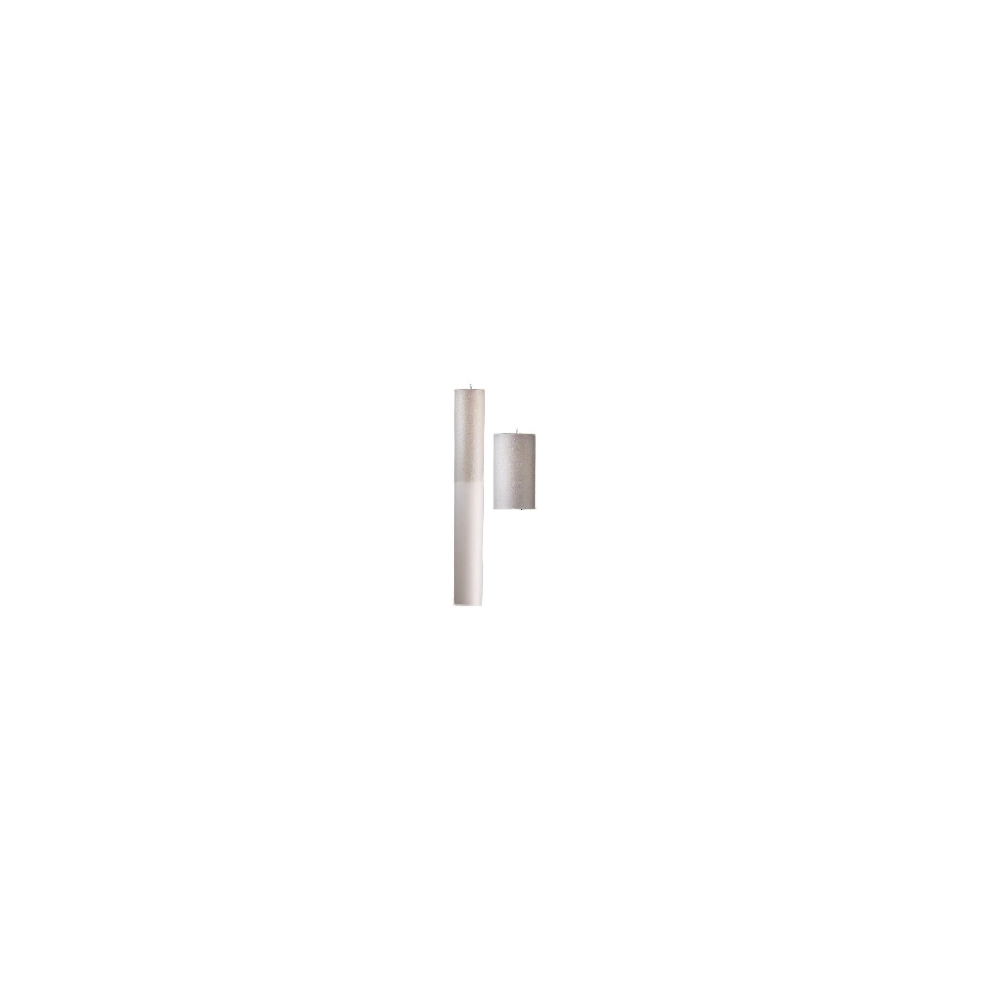 Λαμπάδα Γάμου με λευκό γκλίτερ - NK12140GL