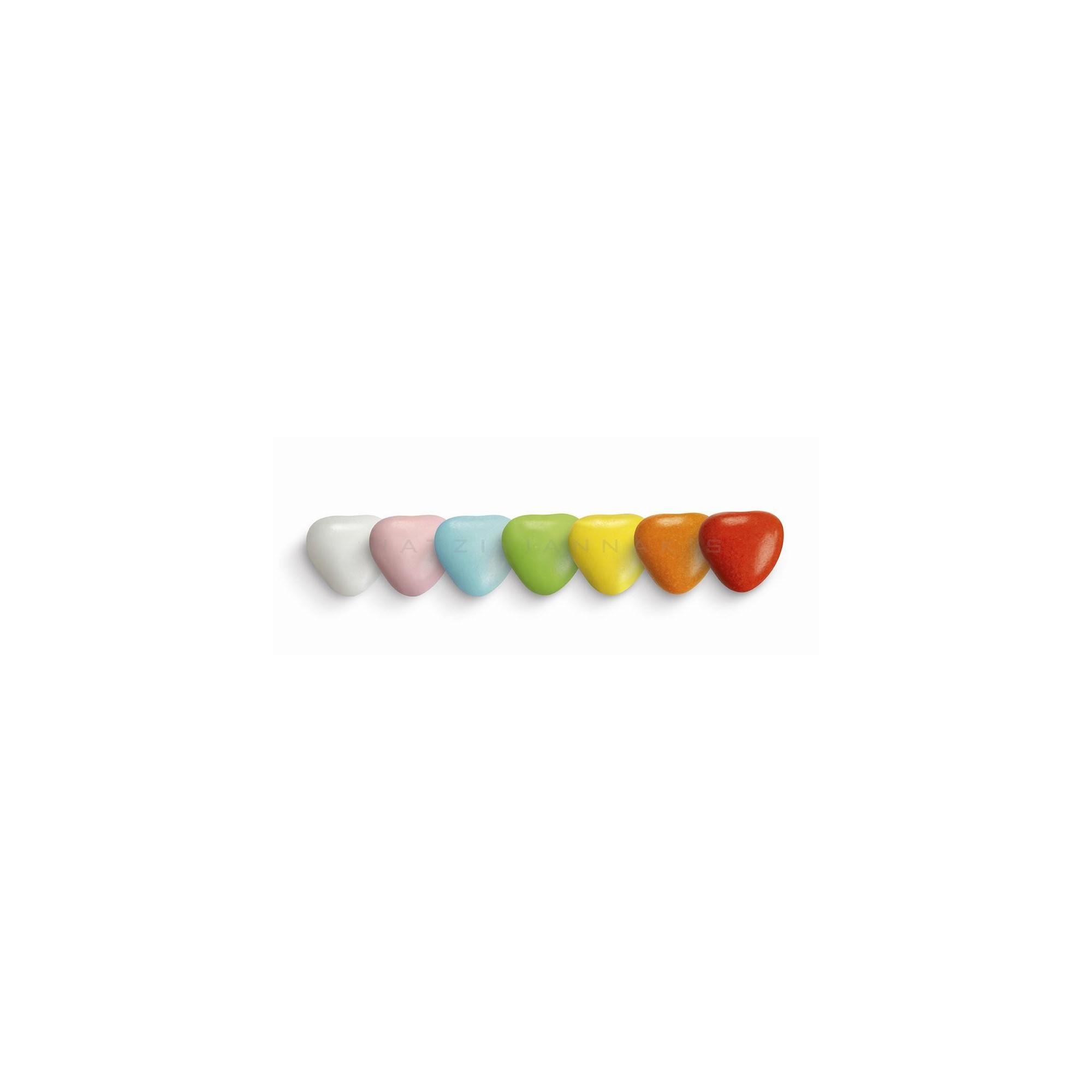 Κουφέτα Σοκολάτας Μεσαία Καρδιά Πολύχρωμη - LWG-X1203