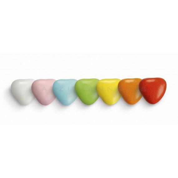 Κουφέτα Σοκολάτας Μεσαία Καρδιά Πολύχρωμη (4kg) - LWG-X1203-4