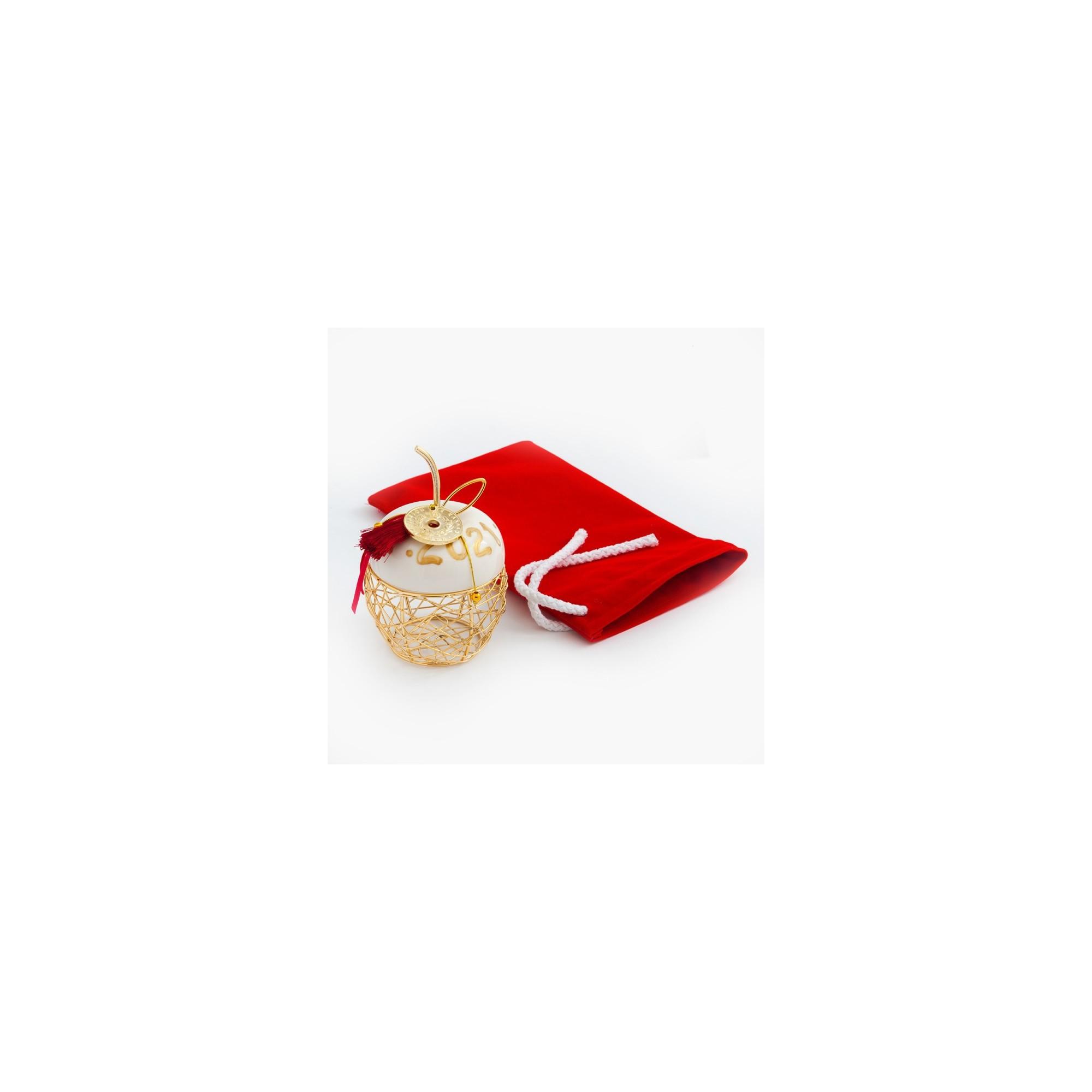 Χριστουγεννιάτικο γούρι με βελούδινο πουγκί - PAR-19252