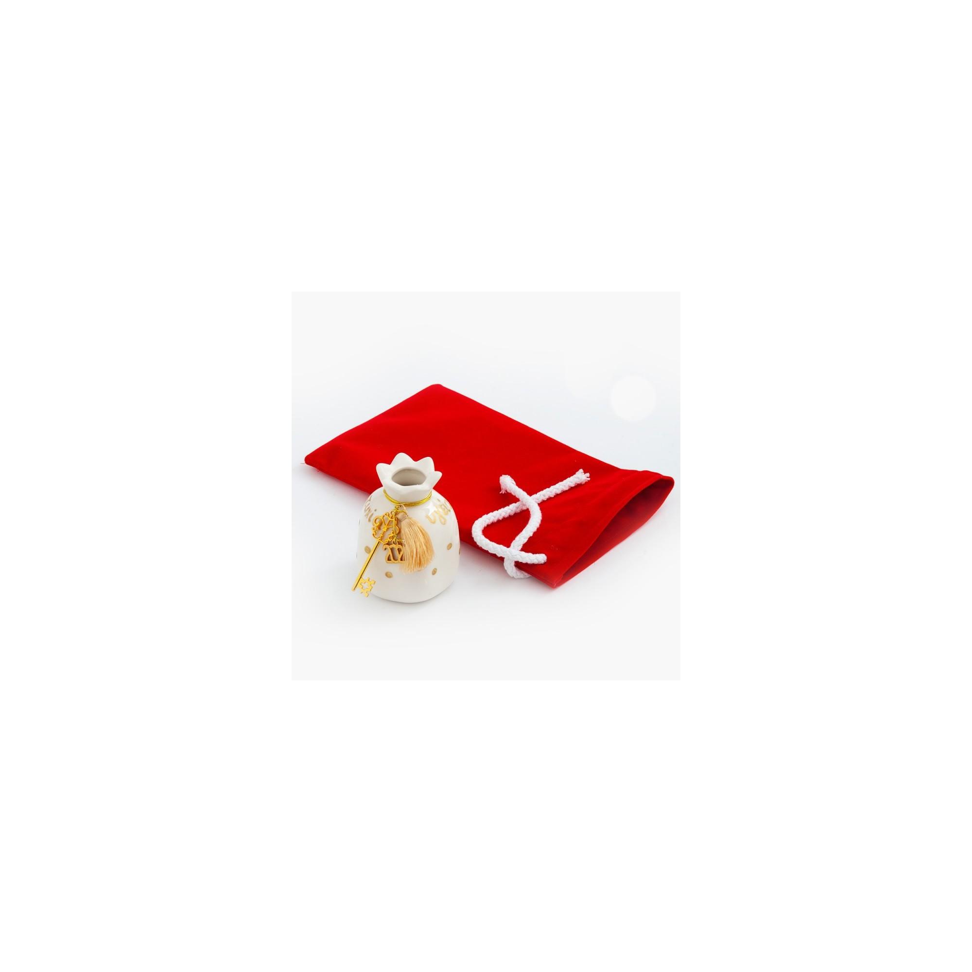 Χριστουγεννιάτικο γούρι με βελούδινο πουγκί - PAR-19244
