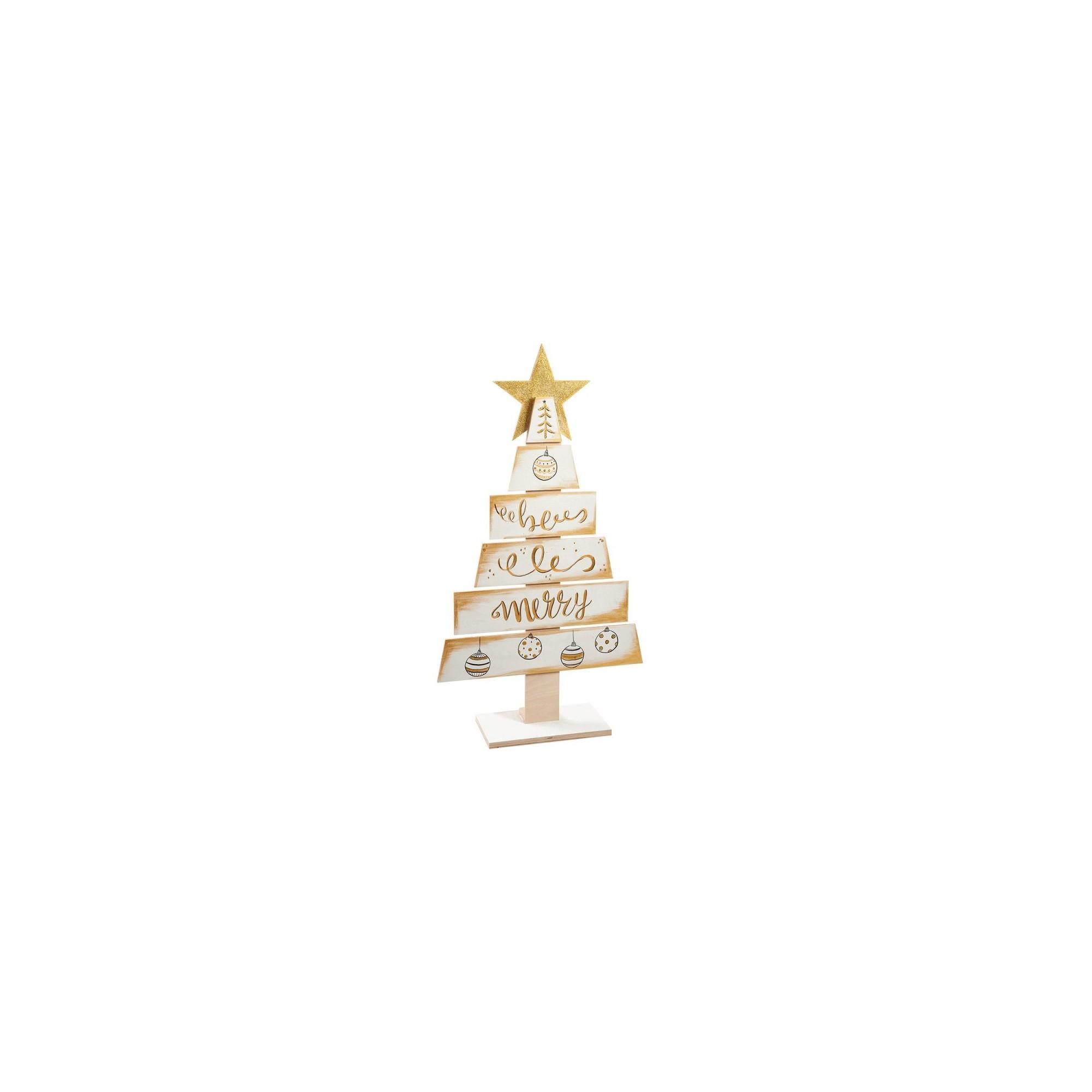 Ξύλινο διακοσμητικό δέντρο Χριστουγέννων - PAR-19185