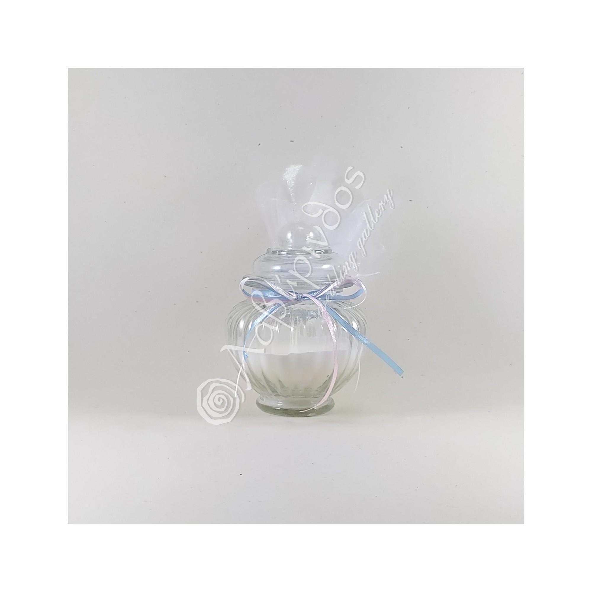 Μπομπονιέρα βάπτισης κερί σε βαζάκι - LWG-12287