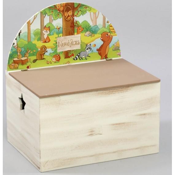Κουτί βάπτισης Ζώα του δάσους - Z-572
