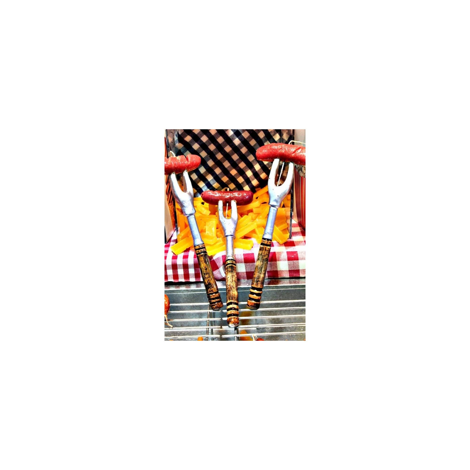 Λαμπάδα πιρούνα λουκάνικο - G1826