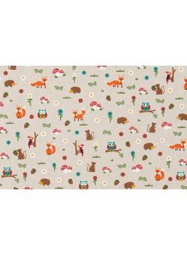 Ύφασμα Ζώα του Δάσους - NT-308263