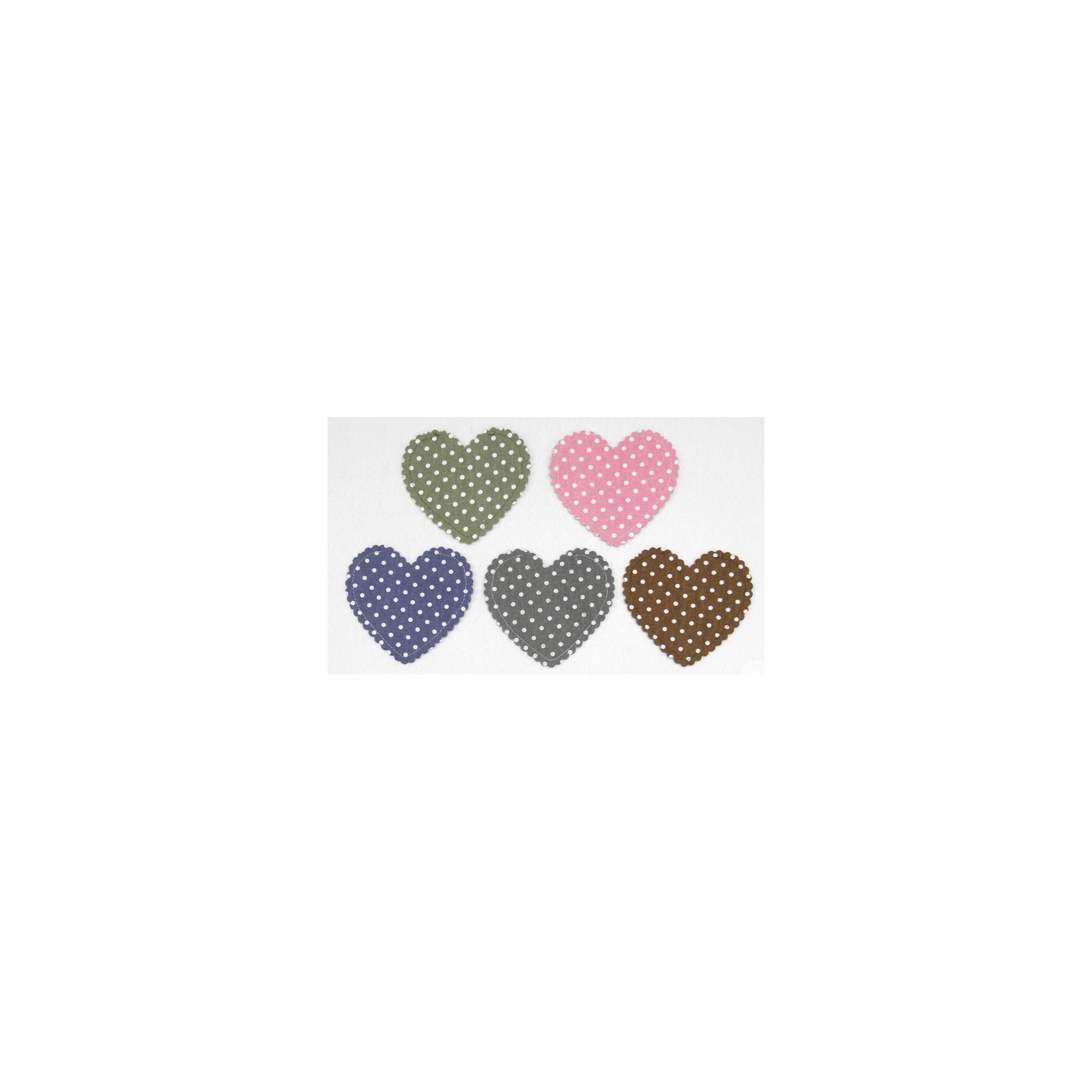 Πουγκί Καρδιά Καραβόπανο Πουά - PP-0527173