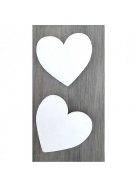 Ξύλινες Καρδιές Λευκές (50 τμχ) - RNT-Κ2